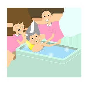 入浴介助のイメージ